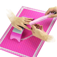 HOT 1Set Nail Art Equipment 1pc Silicone Plastic Hand Holder Cushion Pillow And 1pc Foldable Washable