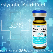Сумасшедшие продажи 35% гликолевая кислота кисть aha кислота гликолевая кислота кожура кислота засоренные поры тусклый кожи ткань морщин Сыворотка для лица