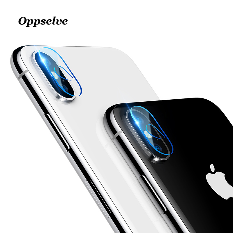Oppselve Camera Lens Tempered Glass For iPhone X 10 Transparent Full Cover Mobile Phone Lens Screen Protector For iPhoneX 2Pcs in Phone Screen Protectors from Cellphones Telecommunications
