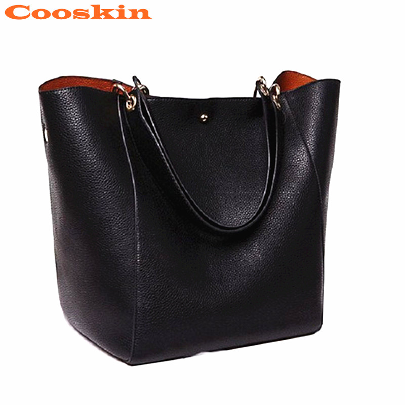 Fashion Leather Bags American Style Red Black Brown Blue Big Capacity Vintage Totes Bags Women Bags