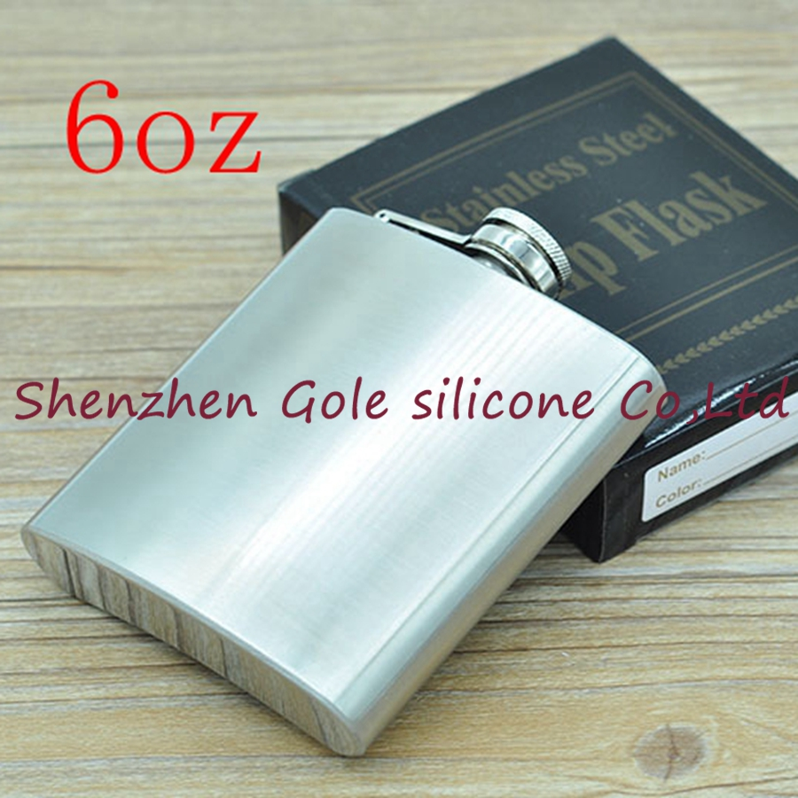 100pcs 6oz Stainless Steel Pocket Flask Russian Hip Flask Male Small Portable Mini Shot Bottles Whiskey Jug Small Gifts For Man