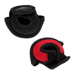 Image 2 - Kołowrotek wędkarski do rzucania przynęty osłony tarczy neoprenowy pokrowiec na kołowrotek odporny na zużycie kołowrotek torby czerwony/czarny 3.9x3.1x2.8 cala