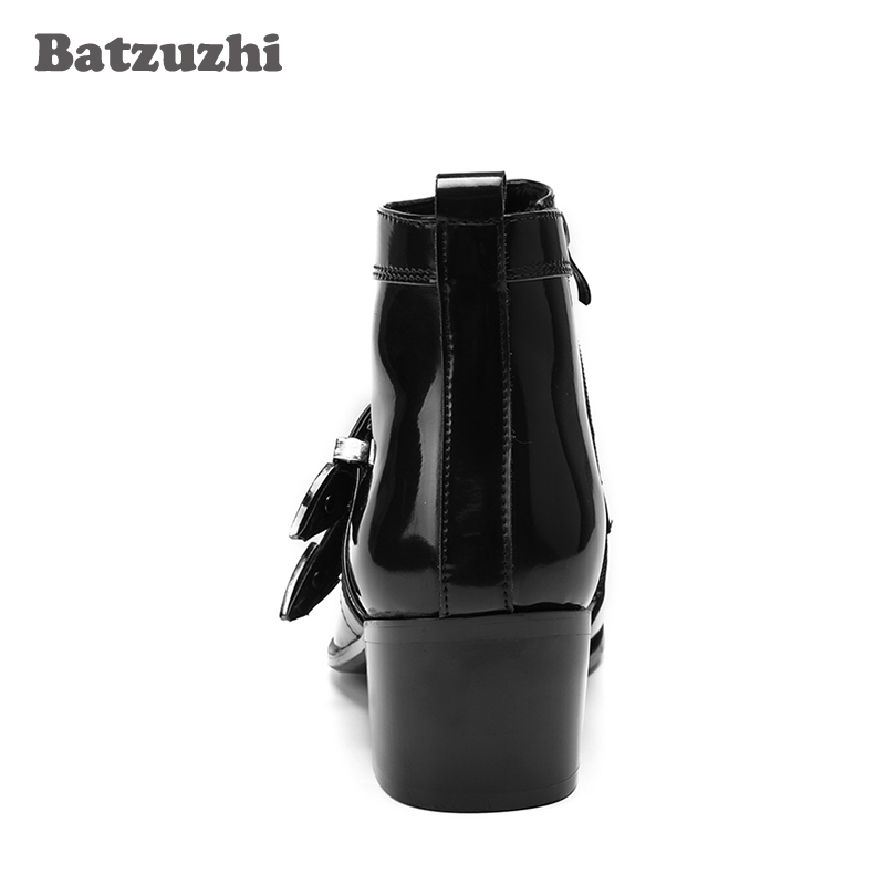 Cm 6 Curtas Preto Inverno Boots Couro outono Botas De Batzuzhi Japonês Ankle Saltos Estilo Moda Moto Mens 5 Homens E4nwA