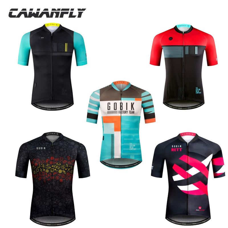 Pro team gobik summer short sleeve mtb bike cycling jersey 2018 ropa ciclismo cycling clothing for men shirt for hombre maillot new 2017 cycling jersey ropa ciclismo short sleeve summer breathable cycling clothing pro team mtb bike jerseys black