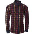 2017 новый зимний хит цвет тонкий плед рубашку с длинными рукавами Тонкий рубашка прилив мужской