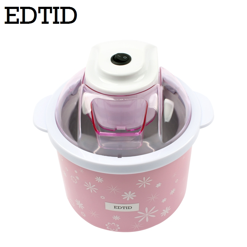 EDTID 1.5L Electric Mini Ice Cream Maker with Transparent Cover for Home Kitchen to Prepare Soft and Frozen Fruit Dessert and Ice Cream 4