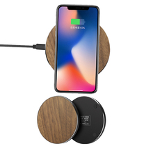 Wood fast Qi Wireless Charger 10W 7.5W 5W for iPhone XS Max XR X 8 Plus Samsung S9 huawei mate RS Charging Pad stand