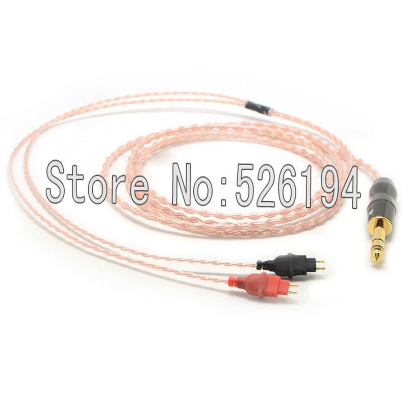 Free shipping 1.2 meter/pieces 5N OFC pure copper Headphone Upgrade Cable For HD580 HD600 HD650 HD25 audio headphone cable free shipping 1 2m pieces ofc silver plated headphone cable for hd580 hd600 hd650 headphone