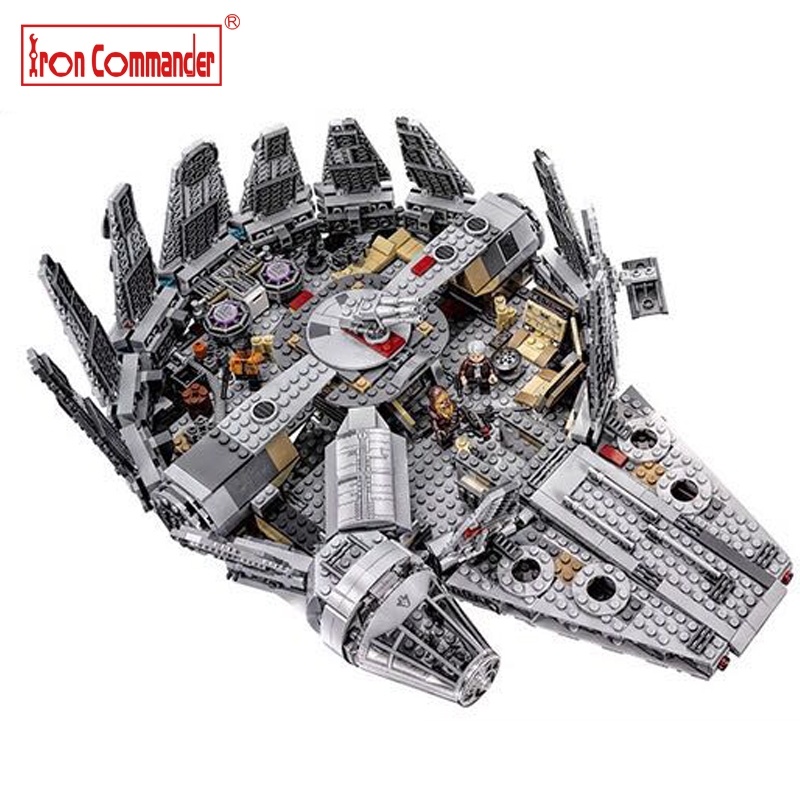 1381pcs Lepin Star Wars Millennium Falcon Outer Space Space Ship Building Blocks Model Toys Christmas Gift for Children blocks lepin 22001 pirate ship imperial warships model building block briks toys gift 1717pcs compatible legoed 10210