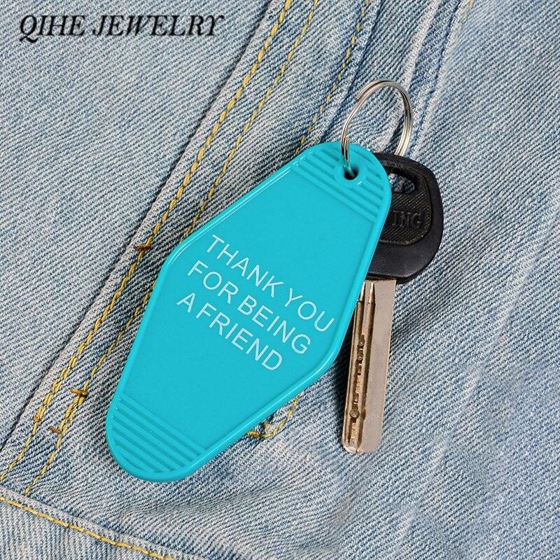 QIHE SCHMUCK SCHATTIGEN PINES Keychain Besten Freund Schlüsselanhänger Schlüssel kette Schlüsselring geschenk für ihn, geschenk für sie Geschenk für Freund
