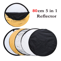 Free Shipping 32 80cm 5 In 1 Round Multi Color Lighting Disc Photographic Reflector