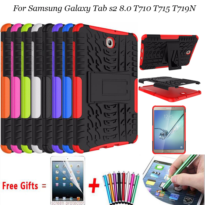 For Samsung galaxy Tab S2 8.0 T710 Case Stand Silicon Case For Samsung Galaxy Tab S2 8.0 T710 T715 T719N Shockproof Cover Case new x line soft clear tpu case gel back cover for samsung galaxy tab s2 s 2 ii sii 8 0 tablet case t715 t710 t715c silicon case