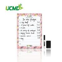 A4 Frigorífico Ímã Removível Apagar Planejador de Desenho e Escrita Placa Magnética Placa da Mensagem Ímãs de Geladeira Para Fazer A Lista Memo Pad Notas