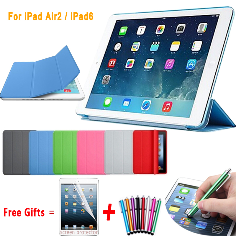 Ultra Slim Magnetic PU Leather Case for iPad Air 2 Split Smart Case for iPad Air 2 Cover Matte Hard Back Cover for iPad 6 9.7 surehin nice 360 full protective magnetic smart pu leather case for apple ipad air 1 cover slim thin tpu silicon back soft case