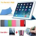 Ultra slim magnetic pu leather case para ipad air 2 divisão smart case para ipad air 2 capa matte rígido capa para ipad 6 9.7''