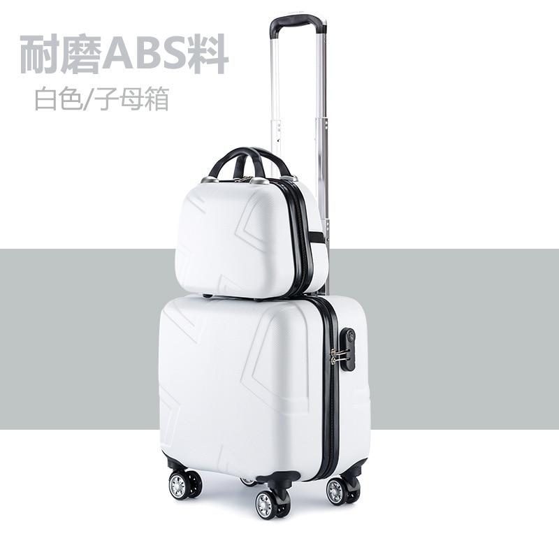 """Набор чемоданов комплект багажных сумок на колесиках Spinner Тележка Дело 1"""" посадочное колесо женщина косметичка carry-on чемодан дорожные сумки"""