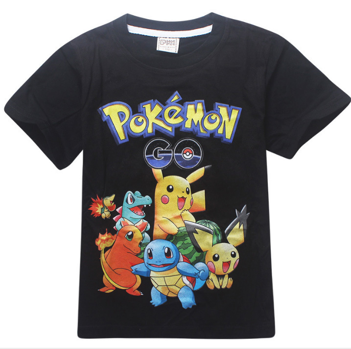 Girls Tops Shorts T-Shirts Pikachu 3-10years Pokemon-Go Baby-Boys Kids Children Cotton