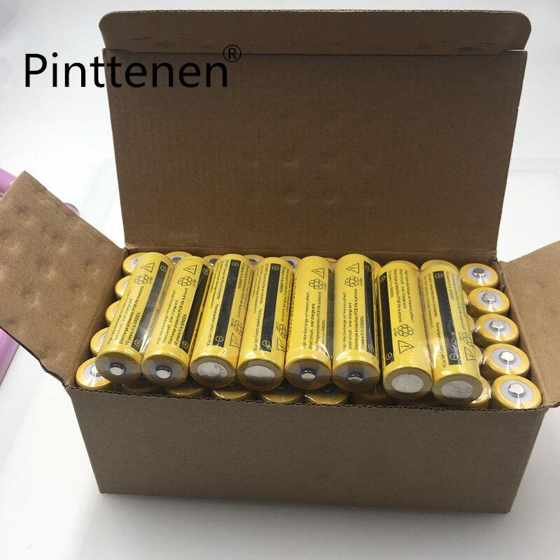Pinttenen 10 pcs/ensemble 18650 batterie 3.7 V 9800 mAh rechargeable au lithium-ion batterie pour Led lampe de poche Torche batery litio batterie