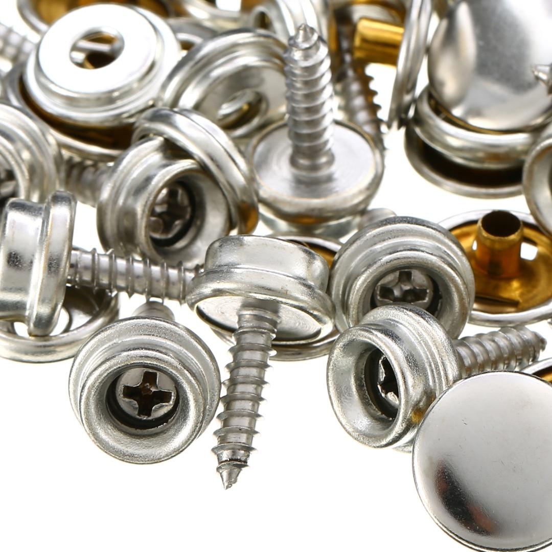 10pcs Stainless Steel Brass Plated Screw Eye 25x4