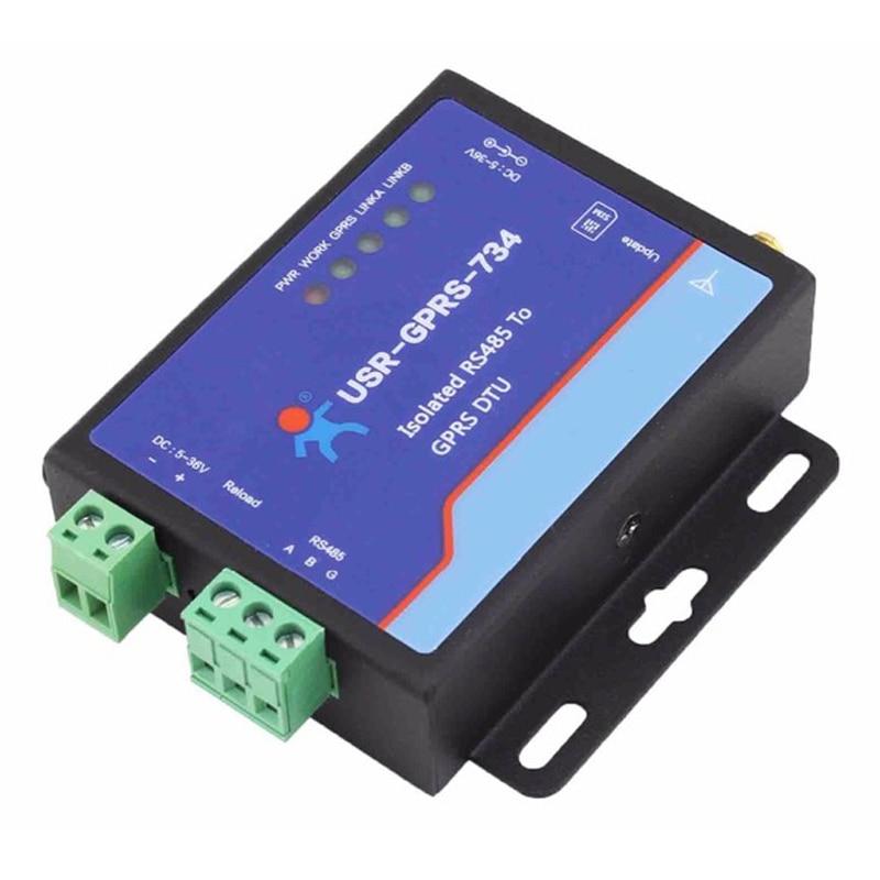 USR-GPRS232-734 Free Shipping USR Industrial GSM Modem GPRS SCADA Modbus M2M RS485 Modem