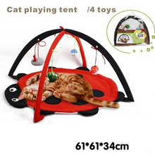 Pet Cat Bed Cat Play Tent Toys Mobile Activity Playing Bed, Toys Cat Bed Pad Blanket House, Pet Furniture Cat House With Ball