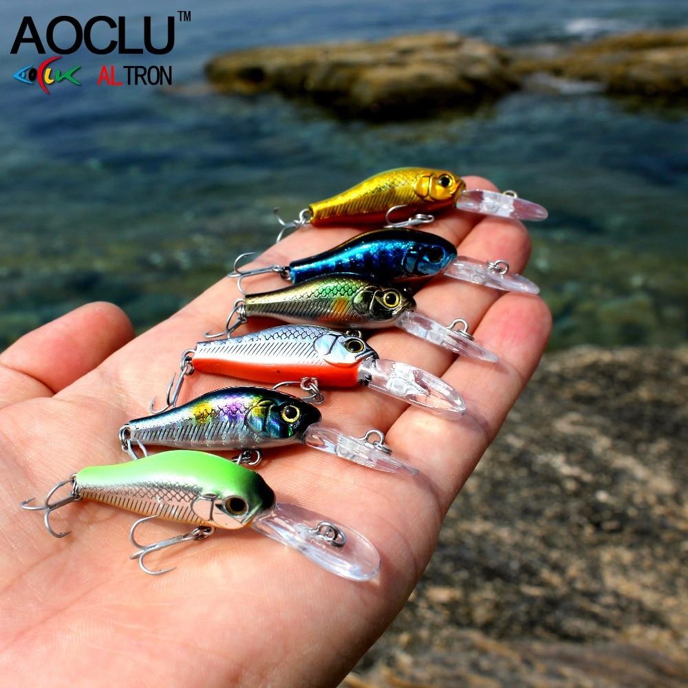 AOCLU wobblers Jerkbait 7 Farver 35cm 2.4g Hårdt Bait Minnow Crank - Fiskeri - Foto 6
