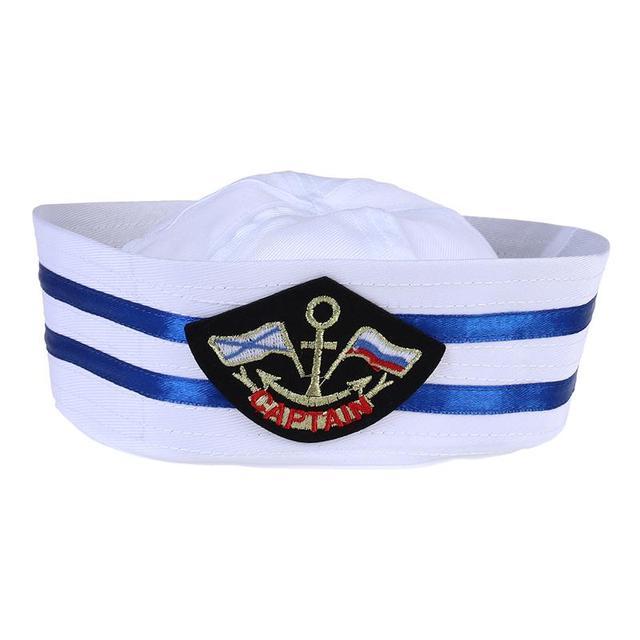 Unisex capitán marinero sombrero Skipper Marina casquillo Militar sombrero  yate bar decoración del partido suministros 9e03af5316d