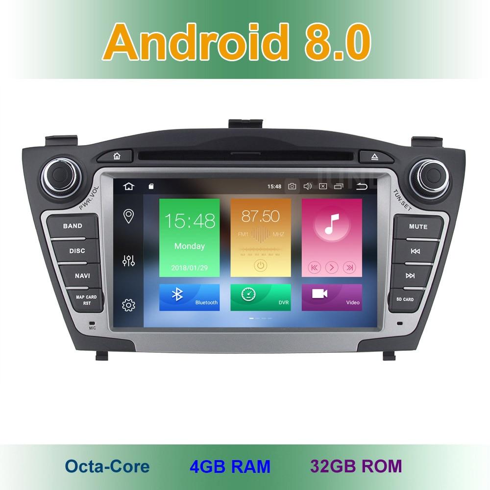Android 8.0 Car DVD Player for Hyundai iX35 IX 35 Tucson 2011 2012 2013 with Radio WiFi Bluetooth GPS