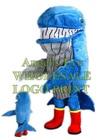 blue whale mascot co...