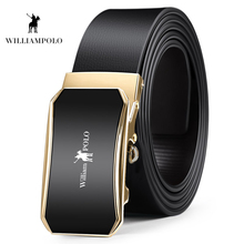 Williampolo Mens Leather Ratchet Belts For Men Fashoin Automatic Buckle Belt 35MM Wide Casual PL18419-21P