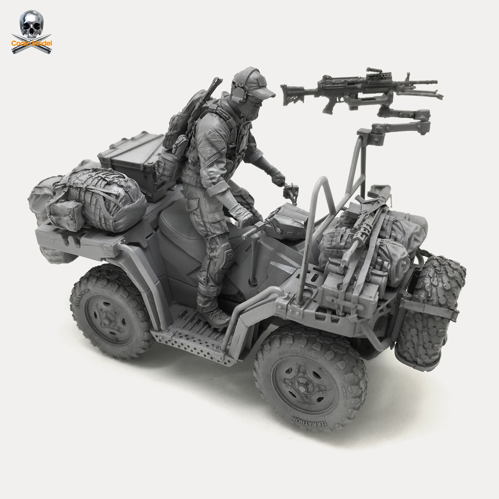 1/35 Resin Model for U.S. Navy Seal Soldier Terrain Vehicle Dxc - 03 ...