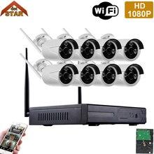 Stardot Беспроводной 8-КАНАЛЬНЫЙ NVR Комплект 1080 P Full HD 2-МЕГАПИКСЕЛЬНАЯ Ip-камера CCTV P2P Камеры Открытый 2-мегапиксельная wi-fi камеры видеонаблюдения системы безопасности kit