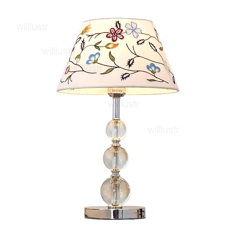 Modern Crystal Table Lamp Desk Light Bedside Side: Modern Crystal Table Lamp Desk Light Sitting Room Bedside