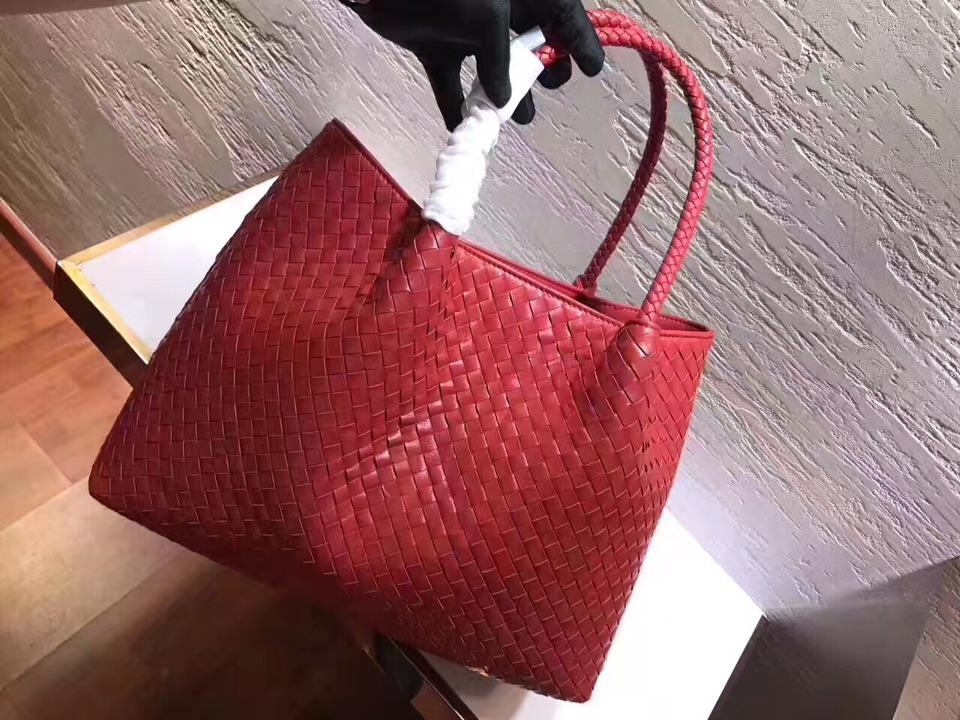 Women Handbag Genuine Leather Lambskin Soft Knitted Female Shoulder Carry Tote Shopping Purse Bag Set Luxury Brand Designer  3