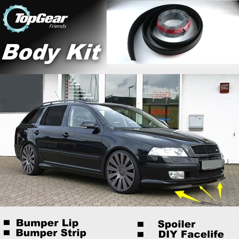 Bumper Lip Deflector Lips For Skoda Citigo Front Spoiler Skirt For TopGear Friends Car Tuning View / Body Kit / Strip