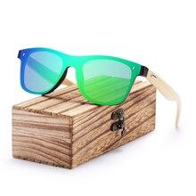 BARCUR New Polarized Bamboo Sunglasses for Men Women Handmade Wood Sun Glasses Black Lenses UV400 Eyewear oculos de sol цена