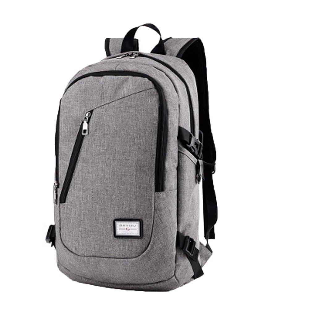 Men Laptop Backpack USB External Charging Traveling Bagpack Brand Large Student Schoolbag Mochila Masculina @6205 2017 markryden men backpack student school bag large capacity trip backpack usb charging laptop backpack for14inches 15inches