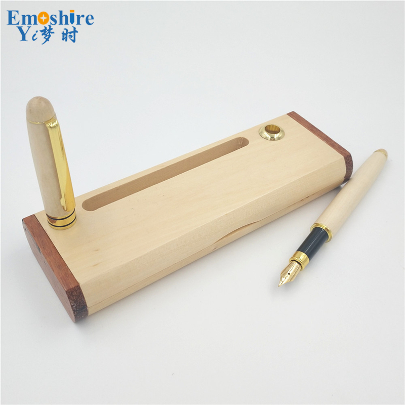 Emoshire Luxury Roller Ballpoint Pens School Office Stationery Ballpoint Pen Wooden Pen Kalem Caneta Material Escolar P222 digital megger insulation resistance tester sound and light alarm mastech ms5201