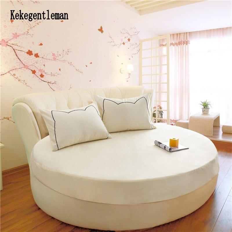 100% القطن الجولة المجهزة ورقة رومانسية بلون الجولة غطاء سرير طقم  سرير غطاء مرتبة توبر 200 سنتيمتر 220 سنتيمتر تحت عنوان فندق-في رقاقة من  المنزل والحديقة على