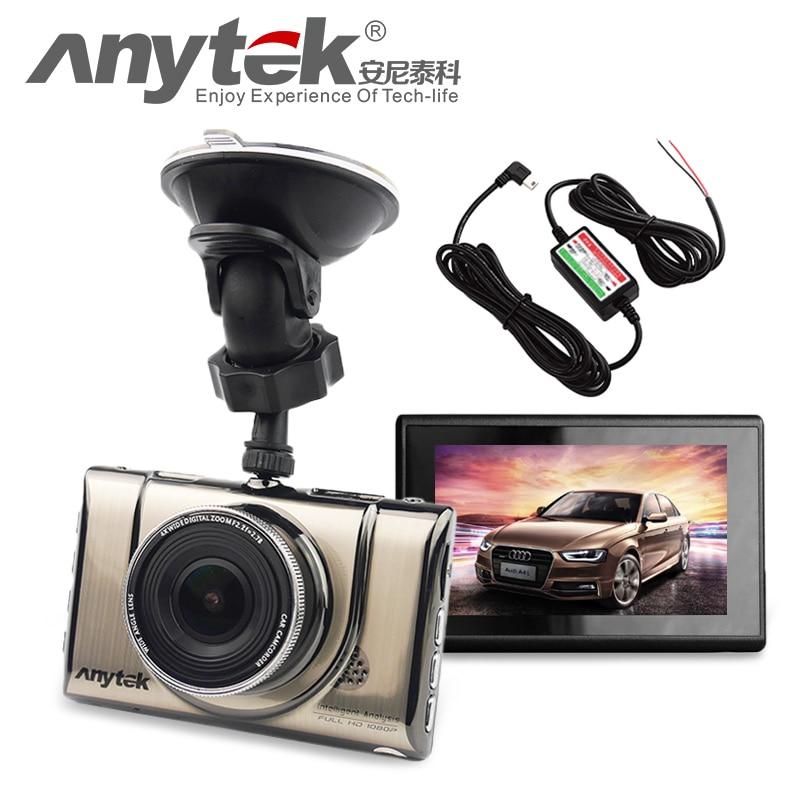 imágenes para 2016 NUEVA Original Anytek A100 A100 + Coche DVR + Novatek 96650 AR0330 1080 P WDR Cámara del coche Monitor de Estacionamiento de Visión Nocturna Negro caja