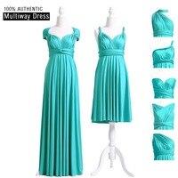 Turquoise Bridesmaid Dress MultiWay Long Convertible Dress Infinity Maxi Dress Floor Length Cap Sleeves Style Wrap Dress