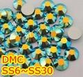 Ss6, ss10, ss16, ss20, ss30 Jet negro AB alta calidad DMC hierro en cristal Rhinestones / Rhinestones calientes cristalinos del arreglo