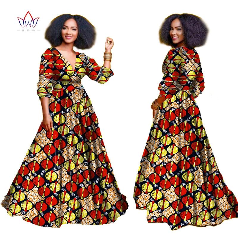 2018 African Dresses For Women Autumn Three Quarter Sleeve Dashiki