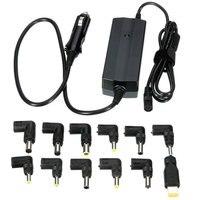 USB DC 12 V 90 Watt Auto Auto Universal-ladegerät Netzteil Für Laptop Notebook Ausgang 5 V/2.4A 12x Austauschbar Tipps