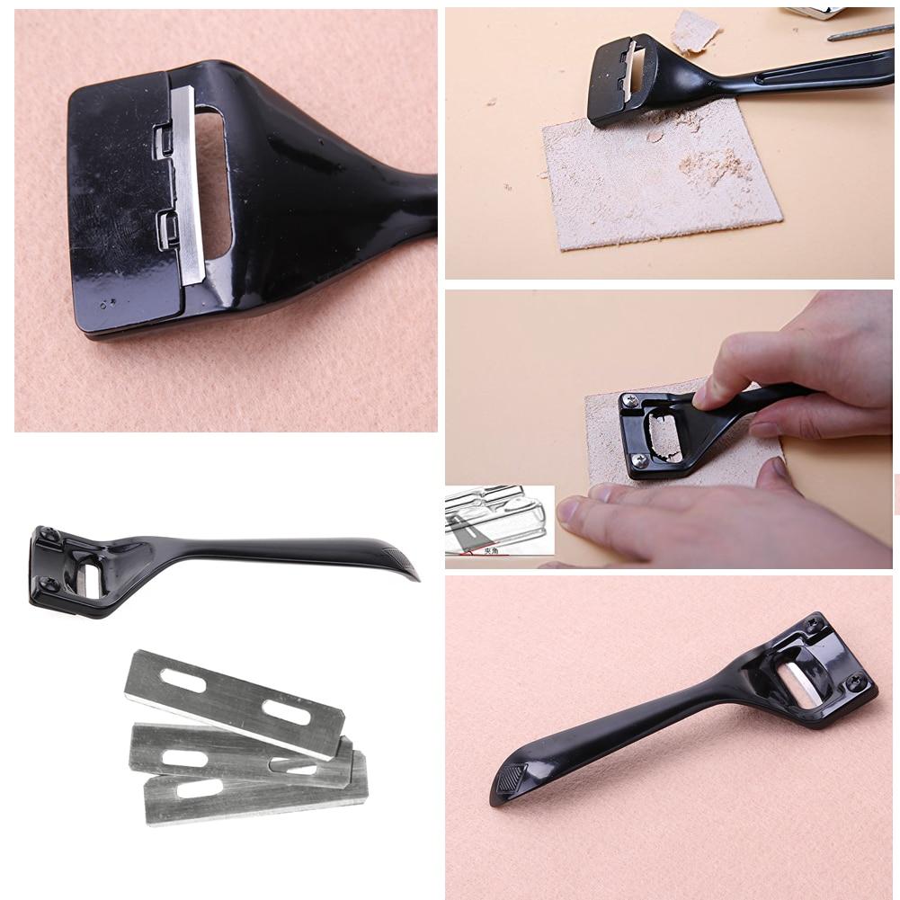 Инструмент для кожи, нож для резки краев, 3 лезвия, складывается, инструмент для обработки кожи