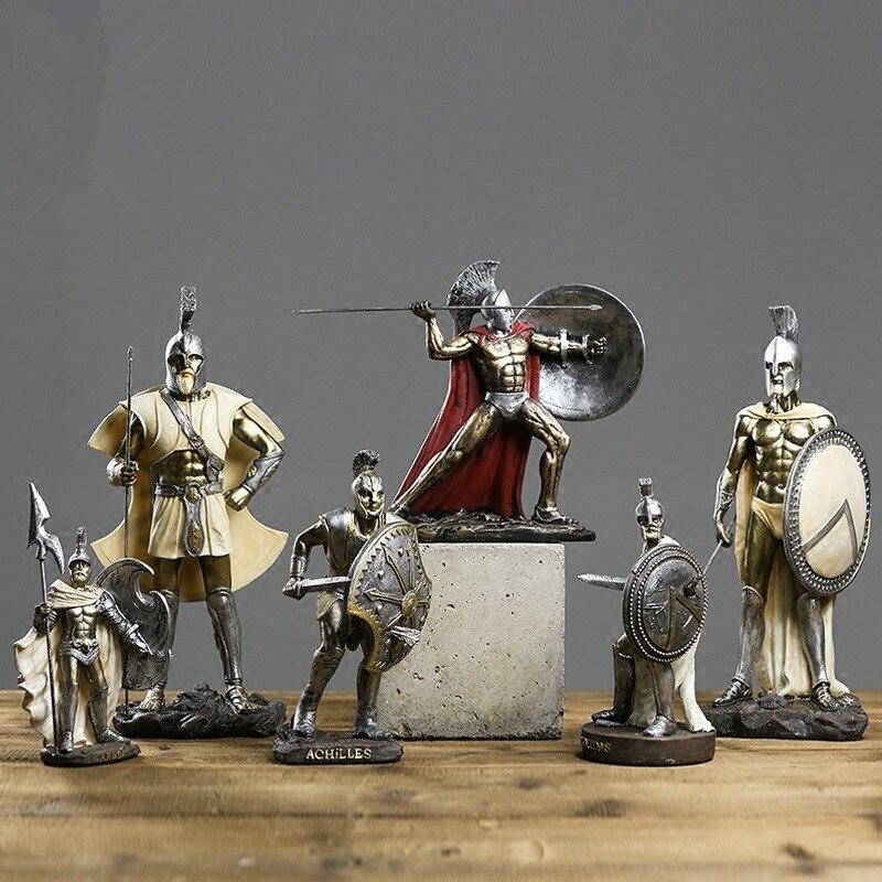 Sculpture/Statue en résine Vintage médiévale, chevaliers, guerrier, soldat, déesse de la justice, déesse vénus, dieu, artisanat. L3444