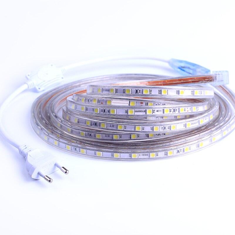 Waterproof SMD 5050 AC220V LED Strip Fles