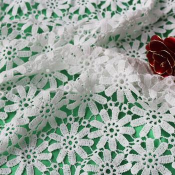 African Lace Fabrics 5yards New Arrival Guipure Lace Fabric 2017 High Quality Nigerian Cord Lace Fabric For Wedding Dresses