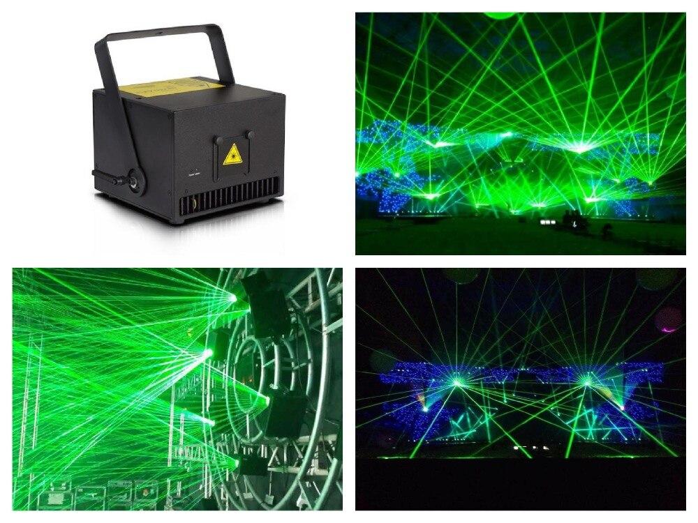 Zelená 520nm / 1W laserová 1000mW animace jeviště událost vybavení ILDA 20kpps osvětlení disco dj bar párty vybavení klub bar scéna