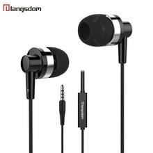лучшая цена Langsdom JD89 Earphone 3.5MM Wired Earphones Stereo HIFI In-ear Earbuds gaming Sport with microphone